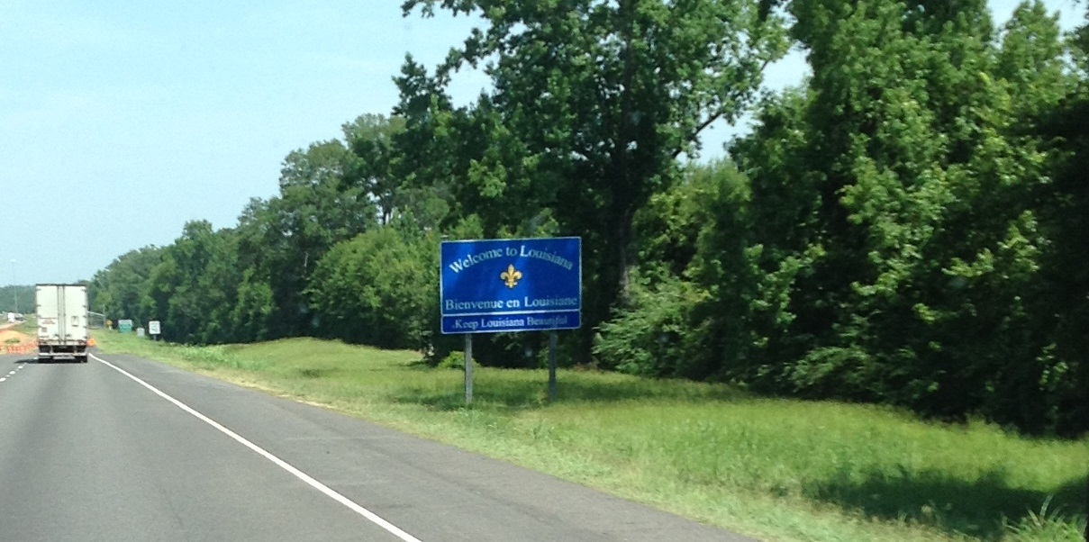 Entering Louisiana